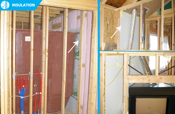 A look behind the walls insulation home creations - How to blow insulation into exterior walls ...